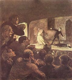 At the Theater (The Melodrama) by Honore Daumier c. melodrama was the most common form of performing Honore Daumier, Joshua Reynolds, Pin Up, Henri Fantin Latour, Art Français, Art Database, Pulp Art, Wood Engraving, Pulp Fiction