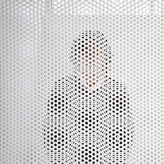 Distance of Fog by studiogreenblue / moire pattern vis simple perforated metal screens