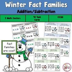 Winter Fact Family Task Cards by Teacher's Take-Out | TpT