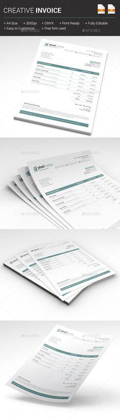 Creative Invoice Template   #invoice #invoicetemplate   Download: http://graphicriver.net/item/creative-invoice/10271156?ref=ksioks