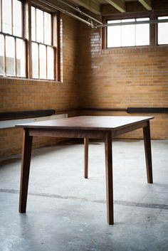 Modern Solid Walnut Table by Hedge House Furniture