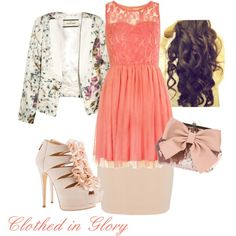 """Floral Modesty"" by clothed-in-glory on Polyvore"