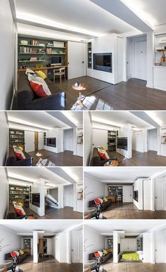 The Five to One Apartment: Containing the functional and spatial elements within a compact 390 Sf