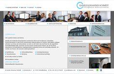 Konzept & Design und Umsetzung STEINBERG DESIGN Kunde: Kanzlei Johannes Schmidt