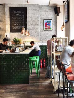 Attendant Coffee, not far from near Old Street in Shoreditch, serves up some of the best working cafes vibes in London.