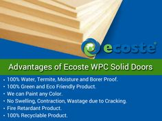 Advantages of Ecoste WPC Solid Doors