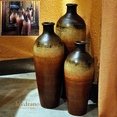 Tuscan Decor Vases Medrano Floor Vase Set