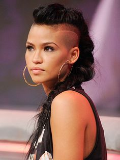 cassie hairstyle, sidecut, shaved hair, braid, mohawk, black women inspiration, black girls
