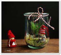 Weihnachtsdekoration selber machen Deko im Glase