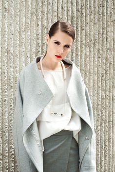 ATUKO Grigio giacca di lana, giacca di lana lana, stagione primavera-estate giacca manica lunga con colletto largo