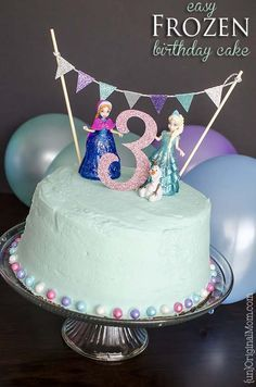 Simple 3 Layer Frozen Birthday Cake Using A Box Mix