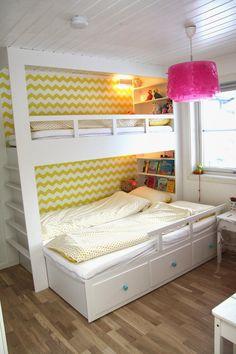 Kinderzimmer ikea hemnes  IKEA Hack: Doppelstockbett aus IKEA HEMNES Tagesbett | ☆ HEMNES ...