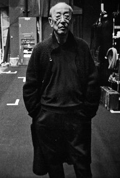 Describe yourself…I'm shy and I always wear black.Why do you like Yohji Yamamoto's clothes?Yohji's clothes create a mature ambience. I love the sense of cleanliness and purity that comes when people only wear black.-YUKIO NINAGAWA. Theatre Director, 76.