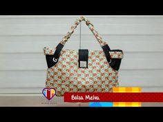 Bolsa em tecidos Melva - Maria Adna Ateliê - Cursos e aulas de bolsas em tecidos e couro - YouTube