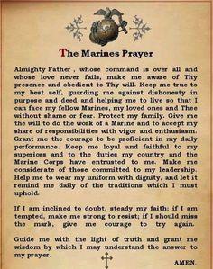 The Marines Prayer