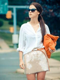 Ponytail, Orange And White Style - Click for More...