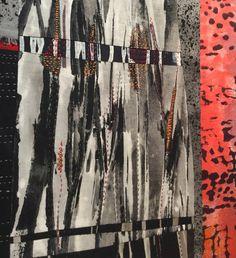 Textile painting by Jennifer Love - detail. December 2015