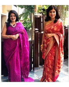 We have draped the famous Banarasi & Dhakai Jamdani sarees from the Bengali culture for the Pujo season! 🤩 . #OutfitInspo #OutfitIdeas #styling #Saree #SareeStyles #SareeDraping #SareeIdeas #SareeLove #SareeLover #SareeDraping #SixYards #IndianLook #Traditional #Lehenga #SareeAsLehenga #Duppata #Pink #Blue #Fashion #Diwali #DiwaliLook #DiwaliParty #Bengali #Banarasi #DhakaiJamdani #IndianFashion #IndianHeritage #Heritage #Cultural #Ancient #Art #HeritageInFashion #Fashion #Style #Makeup #India Indian Look, Indian Wear, Bengali Culture, Dhakai Jamdani Saree, Diwali Party, Indian Makeup, Indian Heritage, Indian Embroidery, Bollywood Saree
