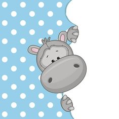Illustration about Hippo peeking out from behind the clouds. Illustration of laughing, card, characters - 45694437 Kids Cartoon Characters, Cartoon Pics, Cute Cartoon, Clipart Baby, Cute Hippo, Baby Hippo, Jungle Animals, Baby Animals, Cute Animals