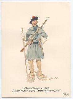 Rogers' Rangers, 1758. Ranger of Spikeman's Company Winter Dress.1758 by Knotel