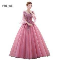 Ruthshen Warming Vestidos De Dulces 16 Quinceanera Dresses With Appliques  Long Sleeves Sweet 15 Masquerade A e865f99a1598