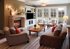TV Next To Fireplace Design Ideas, Pictures, Remodel and Decor