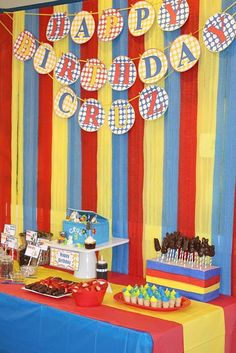 Eventageous Parties: The Toys are Out of the Box Birthday Party, Super Heros, Cartoon Characters, Max & Ruby, Toopy & Binoo 4th Birthday Parties, Birthday Party Decorations, 3rd Birthday, Birthday Ideas, Max And Ruby, Super Party, Cartoon Characters, Birthdays, Cool Stuff
