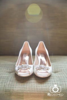 Gorgeous Wedding Shoes from Katie + Kyle's timeless wedding at the Mayo Hotel in Tulsa, OK