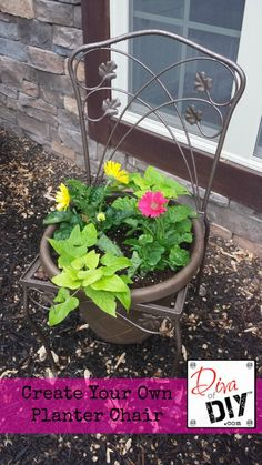 Upcycle a Old Chair into a Planter Chair -