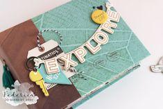 mini album explore by kushi per Scrap it Easy esterno