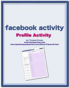 A new twist on the character sketch! Students will create a Facebook profile for a character from the novel (includes printable template).  Can be ...