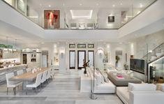 Exquisite modern coastal home in Florida with luminous interiors - - A modern coastal home with square feet of luxurious living space was designed by MHK Architecture & Planning in Naples, Florida. Dream Home Design, Modern House Design, Home Interior Design, Room Interior, Interior Ideas, Mansion Interior, Modern Houses, Contemporary Interior, Luxury Interior