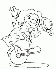 Pagliaccio Circus Theme, Circus Party, Hand Embroidery, Embroidery Designs, Coloring Books, Coloring Pages, Clown Paintings, Magic Memories, Circus Decorations