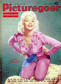 Jayne Mansfield, cover of the magazine Picturegoer, March An advertising for the release of the movie The Girl Can't Help It. Jayne Mansfield, Lady Like, Star Magazine, Movie Magazine, Classic Hollywood, Old Hollywood, Hollywood Actresses, Hollywood Glamour, Elvis Presley