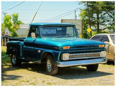 A Cool Blue Chevy Truck...YES