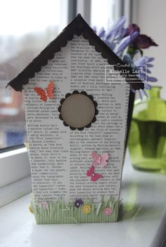 love this bird house - I am thinking part of my Easter decor next Easter
