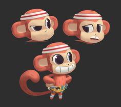 Character Designer and Storyboard Artist for Animation Character Design References, 3d Character, Cartoon Monkey Drawing, Graffiti Doodles, Got Characters, 3d Sketch, Cute Monkey, Art Reference Poses, Animal Design