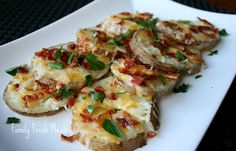 Loaded Baked Potato Rounds (with vegetarian option)  Easy Appetizer
