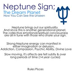 Astrology: Neptune Sign | #astrology #zodiac #neptunesign