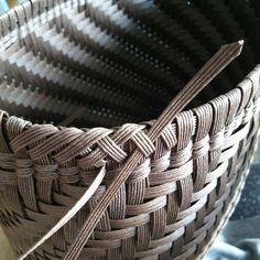 蛇のお腹の縁模様 - 紙バンド(紙ひも)で作るかごバッグ~mamemame~