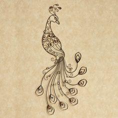 Bejeweled Peacock Metal Wall Art
