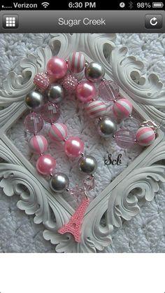 Paris inspired chunky bead necklace   Www.facebook.com/sugarcreboutique
