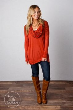 Lux Cowl Neck Tunic! Perfect for my Fall Wardrobe - comfortable and stylish | $19.99 on Jane.com