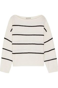 Vince - Striped Cashmere Sweater - Ivory - x small