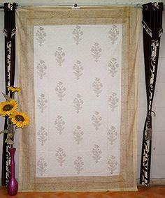 Indian Designer Block Print Bedspread Handmade Wall Art T... https://www.amazon.com/dp/B01GO6OF9A/ref=cm_sw_r_pi_dp_x_pLGGybHJCTA47