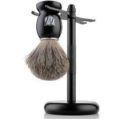 Miusco 100% pure badger hair shaving #brush and #luxury #stand shaving set, black,  View more on the LINK: http://www.zeppy.io/product/gb/2/142267182413/