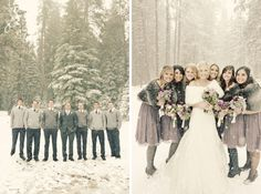 Brandon and Brett   Winter Wedding   Huntington Lake, CA