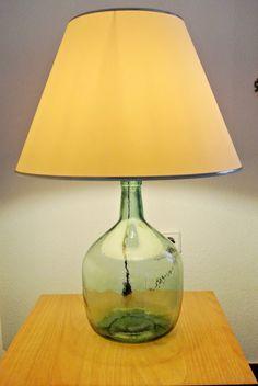 como hacer una lampara con una botella lampara