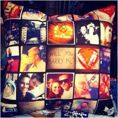 Almohadones, cojines hechos a mano con estampados de tus fotos de Intagram #in