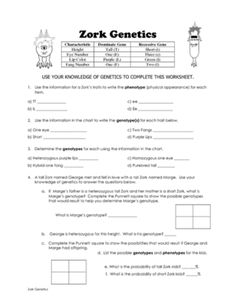 This worksheet was written for my biology i class it is a 4 page zork genetics punnett square practice from classroom 214 on teachersnotebook 7 pages ccuart Images
